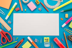 School office supplies Royalty Free Stock Image