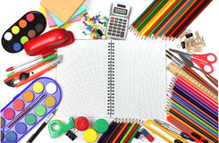School and office supplies stock images