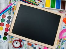 School office supplies Royalty Free Stock Images