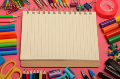 School office supplies Royalty Free Stock Photography