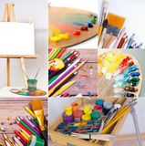 School and office supplies collection. Some school and office supplies collection Royalty Free Stock Photography