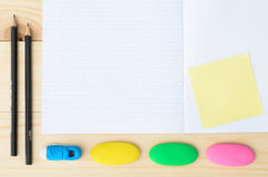 School and office supplies frame Royalty Free Stock Image