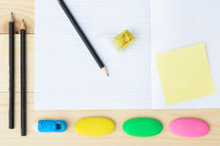 School and office supplies frame Royalty Free Stock Photos