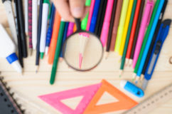 School and office supplies frame Stock Image