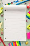 School office supplies Royalty Free Stock Photos