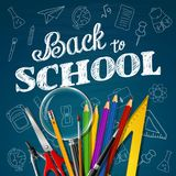 School and office supplies. Illustration of School and office supplies Stock Photos