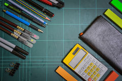 School and office supplies 2. This image is a view from above Royalty Free Stock Image