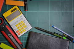 School and office supplies 2. This image is a view from above Stock Photography