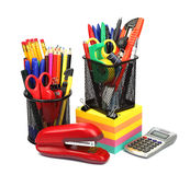 School and office supplies isolated on white background Royalty Free Stock Photo