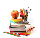 School and office supplies on white Royalty Free Stock Images