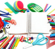 School and office supplies on white background. Back to school. Stock Photography