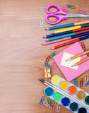 School and office supplies Royalty Free Stock Photos