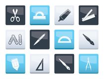 School and office tools icons over color background. Vector icon set vector illustration