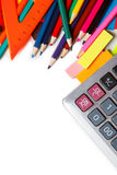 School and office on white background Royalty Free Stock Photo