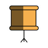 School orange board Royalty Free Stock Photography