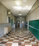 School is Over. No kids in the hallway of this school for Summer vacation Royalty Free Stock Photography