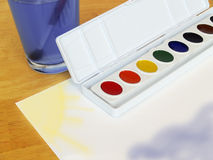 School painting Royalty Free Stock Photos