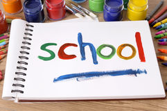 School painting, back to school concept Stock Photo