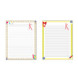 School paper notes isolated on white Royalty Free Stock Image