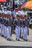 Celebration of 197 years of independence from guatemala. School parade toured the streets of San Lucas Toliman Solola Guatemala in sele rafion of the anniversary royalty free stock photos