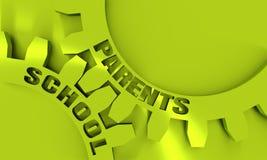 School and parents concept