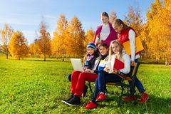 After school in park Royalty Free Stock Photo