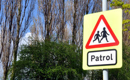 School Patrol Crossing Sign Royalty Free Stock Image