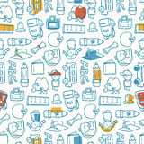 School Pattern. Seamless pattern of school doodles Stock Image