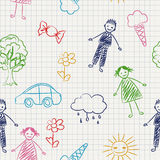 School pattern stock illustration