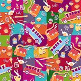 School pattern background Stock Photography