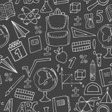 School pattern on a blackboard Royalty Free Stock Image