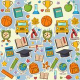 School pattern on blots Royalty Free Stock Images