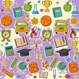 School pattern on blots Royalty Free Stock Photo