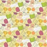 School pattern on blots Stock Images