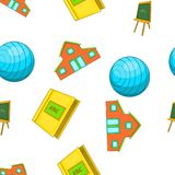 School pattern, cartoon style. School pattern. Cartoon illustration of school vector pattern for web Royalty Free Stock Photo