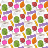 School pattern with color blots Royalty Free Stock Photo