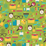 School pattern with colorful icons Royalty Free Stock Images