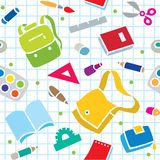 School pattern with education supplies Royalty Free Stock Photo