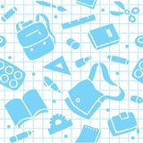 School pattern with education supplies Royalty Free Stock Image