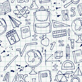 School pattern on a notebook sheet Royalty Free Stock Photos
