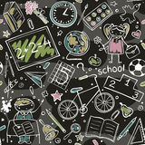School pattern Royalty Free Stock Photo