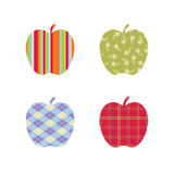 School Patterned Apples Stock Images