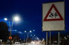 School pedestrian crossing road sign. In Italy Stock Photo