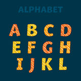 School pencil drawn font for lettering. ABC letters set in kid style. School pencil drawn font for lettering and header Stock Photography
