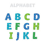 School pencil drawn font for lettering. ABC letters set in kid style. School pencil drawn font for lettering and header Stock Photo