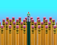 School Pencil Face Royalty Free Stock Photo