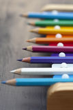 School pencils and bells Royalty Free Stock Photo