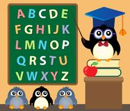 School penguins theme image 3 Stock Images