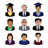 School people icons set Royalty Free Stock Image