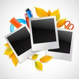 School photo frames Stock Image